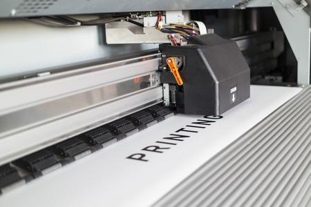 Ecosolvent printer Standard-Bild