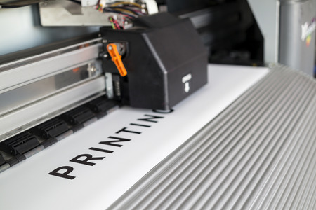 format: Ecosolvent printer Stock Photo