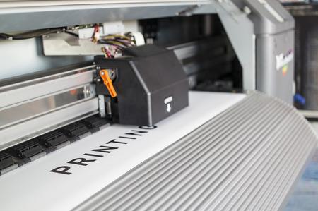 Ecosolvent printer Archivio Fotografico