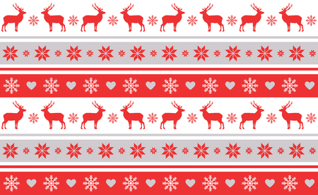 christmas motif: Christmas pattern from typical festive ornaments.