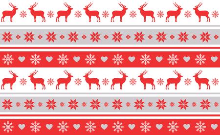 Kerst patroon van de typische feestelijke versieringen.