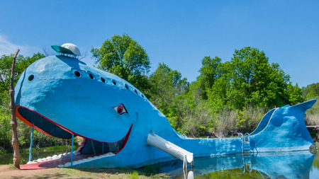 CATOOSA, OK USA - MAY 7, 2013   Iconic Blue Whale, on Route 66
