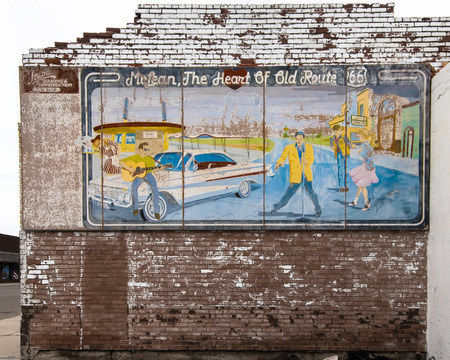 restlessness: MCLEAN, TX USA - MAY 8, 2013   The Heart of Old Route 66  mural