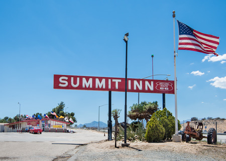 restlessness: OAK HILLS, CA USA - MAY 13, 2013  Historic Summit Inn diner at the Cajon Pass on Route 66