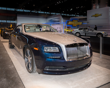 il: CHICAGO, IL USA - FEBRUARY 7, 2014  A 2014 Rolls-Royce Wraith car at the Chicago Auto Show  CAS   Editorial