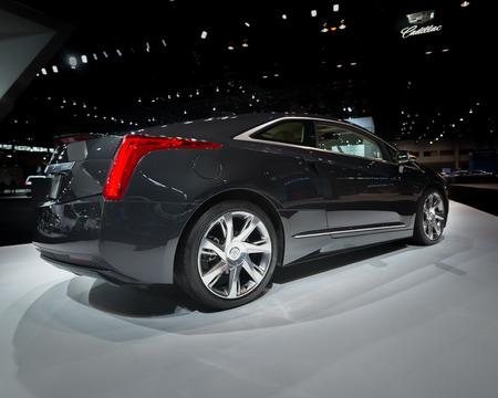 CHICAGO, IL USA - FEBRUARY 7, 2014 A 2014 Cadillac ELR car at the Chicago Auto Show CAS