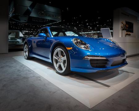 il: CHICAGO, IL USA - FEBRUARY 7, 2014  A 2014 Porsche 911 Carrera car at the Chicago Auto Show  CAS
