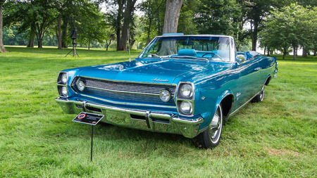 reminisce: GROSSE POINTE SHORES, MIUSA - JUNE 21, 2015: A 1967 American Motors Ambassador car at the EyesOn Design car show, held at the Edsel and Eleanor Ford House.