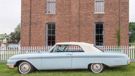 muster: DEARBORN, MIUSA - JUNE 20, 2015: A 1962 Ford Galaxie Sunliner car at The Henry Ford THF Motor Muster, held at Greenfield Village.