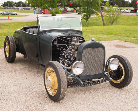 AUSTIN, TXUSA - April 17, 2015: A hot rod at the Lonestar Round Up, a celebration of 1963-and-earlier American hot rods and custom cars.