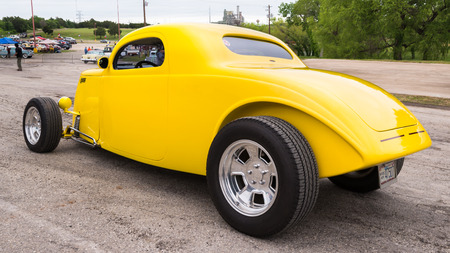 custom car: AUSTIN, TXUSA - April 17, 2015: A 1922 Ford car at the Lonestar Round Up, a celebration of 1963-and-earlier American hot rods and custom cars. Editorial