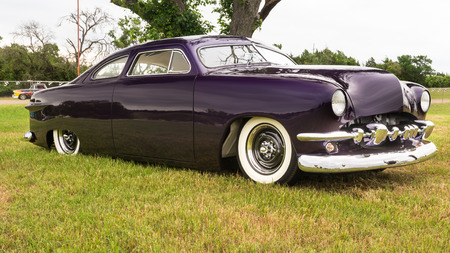 AUSTIN, TXUSA - April 17, 2015: A lead sled at the Lonestar Round Up, a celebration of 1963-and-earlier American hot rods and custom cars.