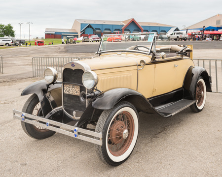 custom car: AUSTIN, TXUSA - April 17, 2015: A 1930 Ford Model A car at the Lonestar Round Up, a celebration of 1963-and-earlier American hot rods and custom cars.