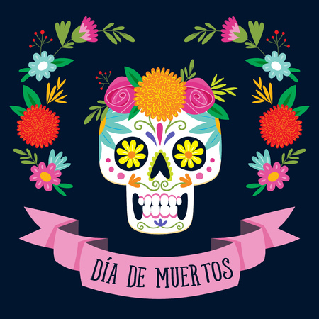 Day of the dead banner.