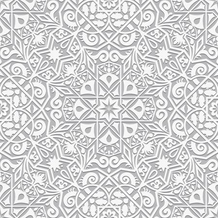 Dekorative Putzdekoration im Arabeskenstil. Vektor nahtlose Muster. Perfekt für Hintergründe, Texturen und Tapetendesigns.