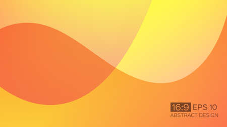 Abstract gradient background with soft waves. 16: 9 screen format. Colorful vector illustration, perfect for web applications, brochures, design templates and business presentations. Orange background. Иллюстрация