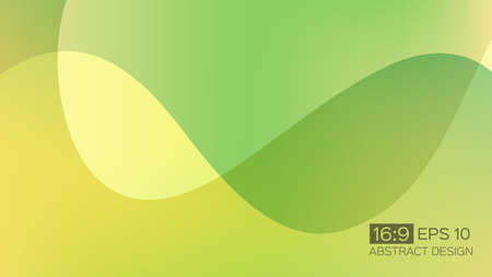 Abstract gradient background with soft waves. 16: 9 screen format. Colorful vector illustration, perfect for web applications, brochures, design templates and business presentations. Green background. Иллюстрация