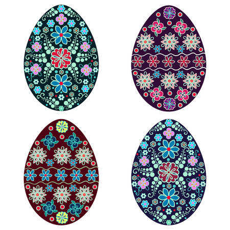 isolated Easter egg, vector, multicolor,holiday, set Vector