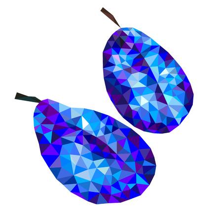 plum: plum triangles