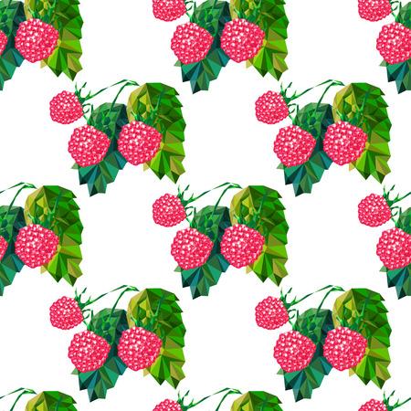 raspberries: Abstract raspberries, triangles, seamless pattern