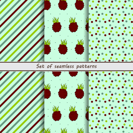 dewberry: set of seamless patterns,dewberry, background oblique striped background in point
