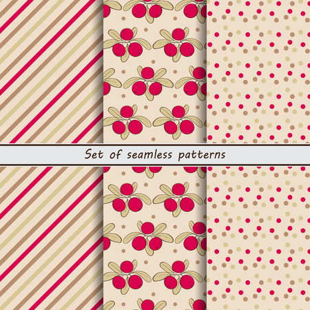 stripe striped: Cranberry, a set of seamless patterns, stripe, striped background, colorful background, background in the points, peas,