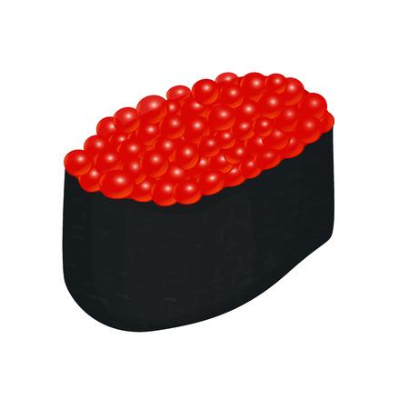 caviar: sushi with caviar
