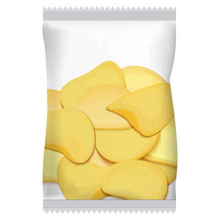packaging for chips, with chips Иллюстрация