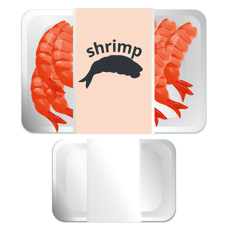 frozen fish: shrimp in a package