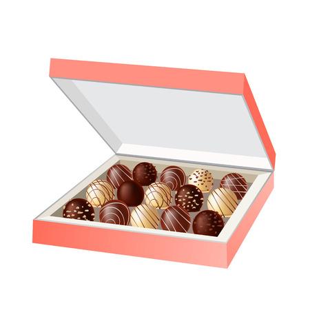 chocolade snoep in een doos Vector Illustratie