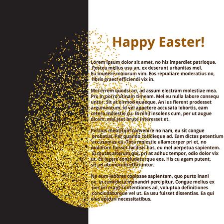 golden egg: banner with golden egg