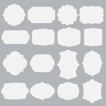 set of silhouette framework Vettoriali