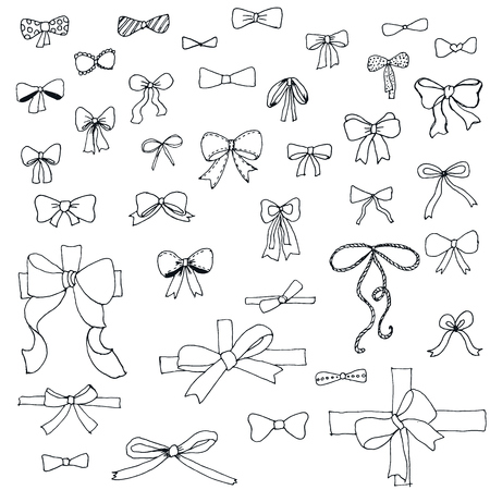 Doodle collection of of bows