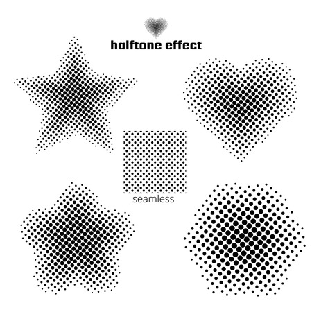 tone: a set of simple shapes, the effect halftone