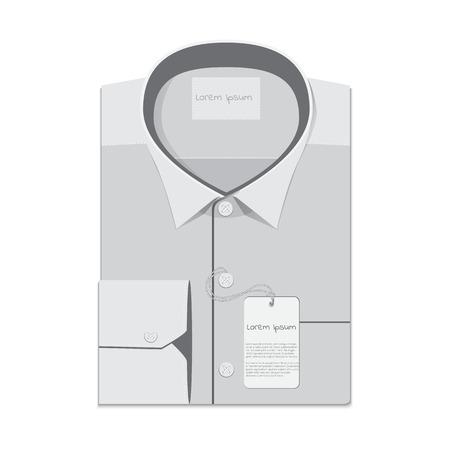 drycleaning: folded shirt isolated on white background