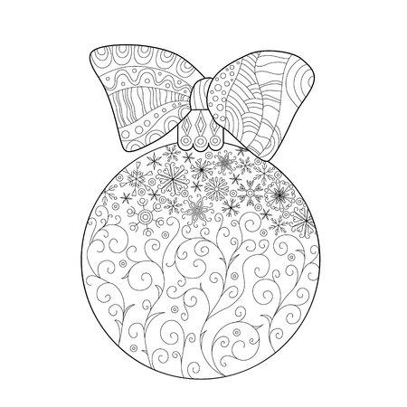 Bola De Navidad Zen-doodle Modelo Adornado. Año Nuevo 2017. Vector ...