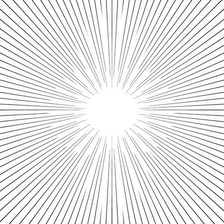 manga style: background with rays, manga style