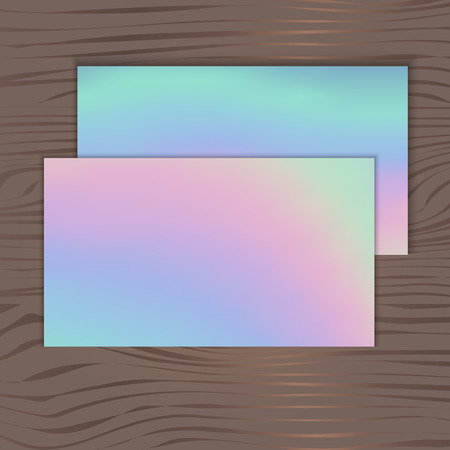 holographic background for business cards on a wooden background stock vector 68632941 - Holographic Business Cards