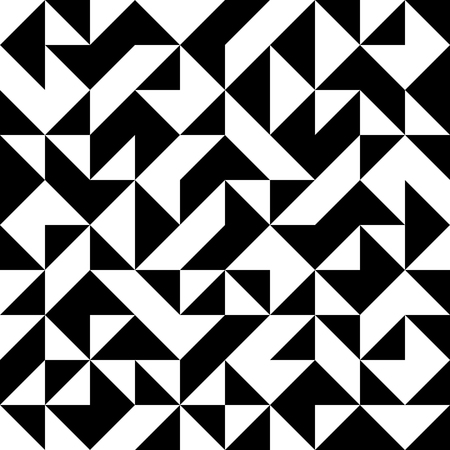 diamond shaped: abstract seamless black and white pattern with triangles