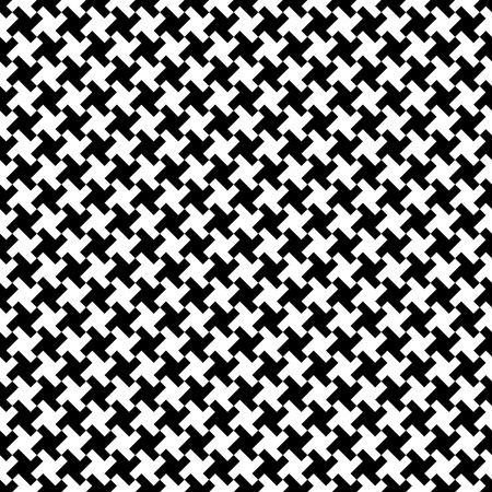 houndstooth: Houndstooth fabric pattern, vector seamless pattern Illustration