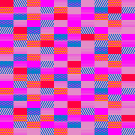 seamless pattern with texture rectangles, pop art style