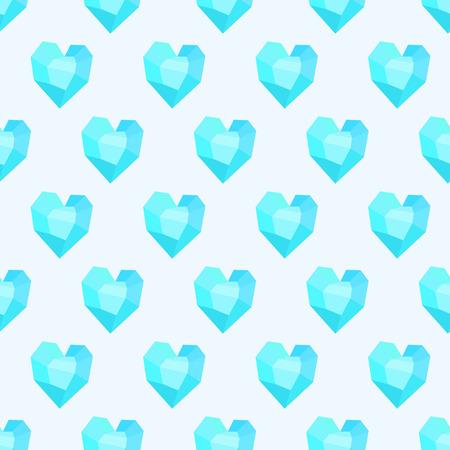 corazones azules: sin patrón con corazones azules