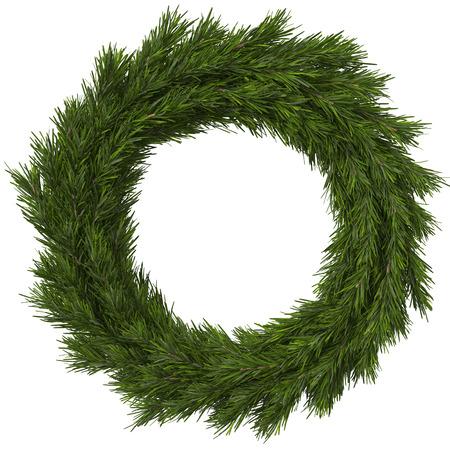 Christmas wreath, 3d illustration 스톡 콘텐츠