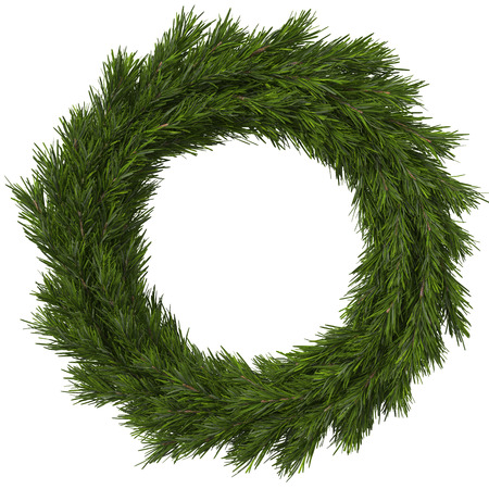 Christmas wreath, 3d illustration Stock Photo