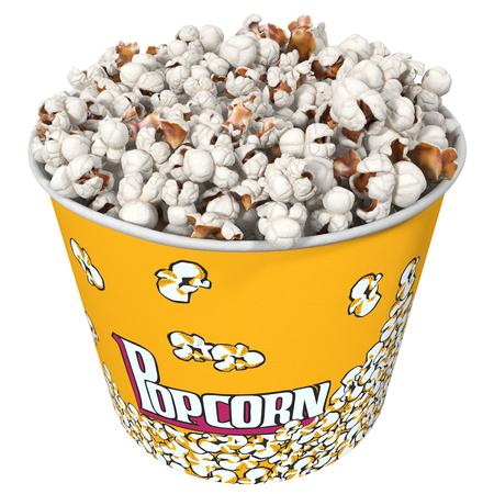 sweetcorn: popcorn, 3d illustration Stock Photo