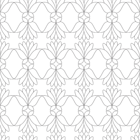abstract seamless pattern. Coloring for adult anti-stress
