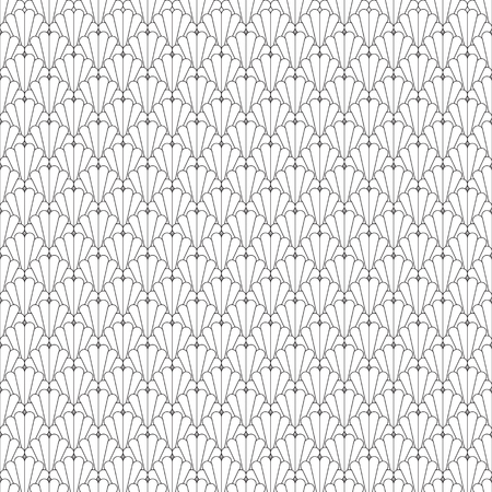 Abstract black and white seamless pattern scaly