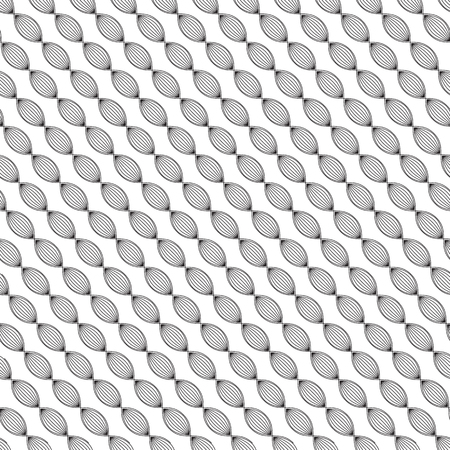 seamless pattern with leaves diagonally