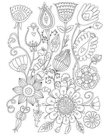 Colorante De Página Para Adultos, Diseño Floral, Anti-estrés Para ...