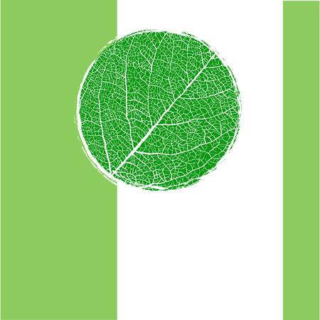 details: Green background with circle veined